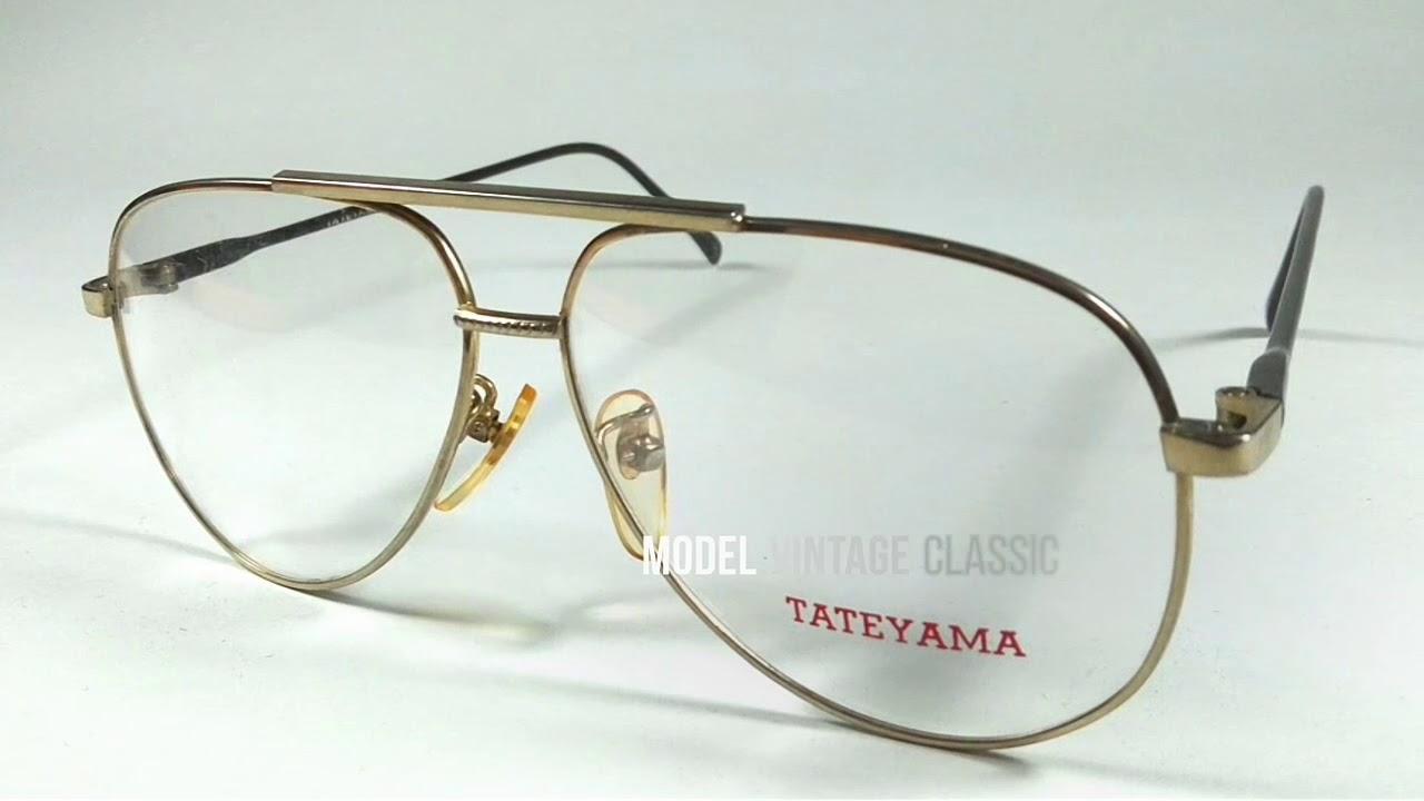 Kacamata Vintage Aviator Jadul Antik Classic Original Tateyama 816 Gold d57c7aa387