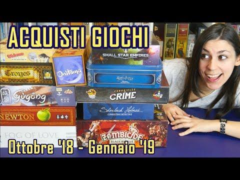Acquisti Giochi da Tavolo (Ottobre 2018-Gennaio 2019)