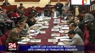 Luis Castañeda se presentó ante la Comisión de Trabajo