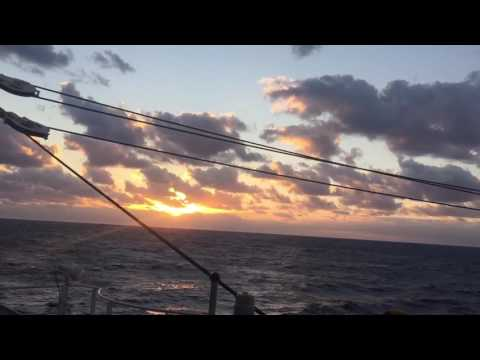 Sunrise from Ogasawara maru ship