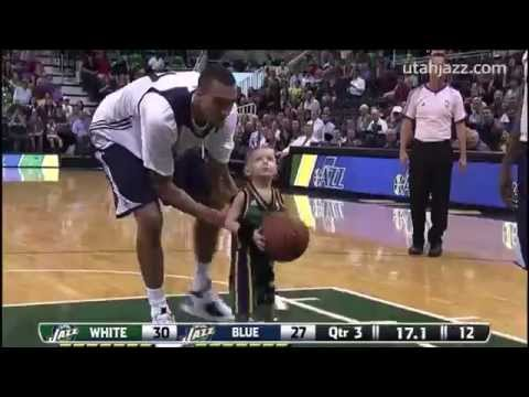 5-Year-Old JP Gibson Plays for the Utah Jazz