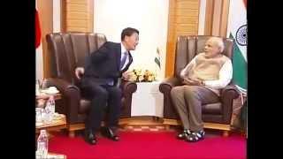 PM meets the President of Democratic Party of Japan, Banri Keida in Tokyo
