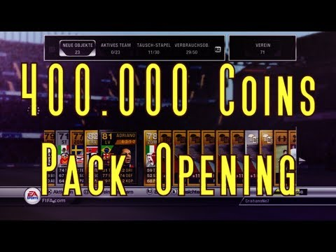 FIFA 12 Ultimate Team - 400.000 Coins Pack Opening + Verlosung!!!