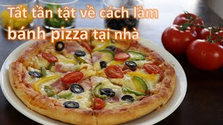 Tất tần tật về pizza: 2 công thức đế bánh truyền thống và cấp tốc, dùng lò và không dùng lò nướng