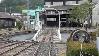 """天竜浜名湖鉄道 """"洗って!回って!列車でGO!"""" 転車台回転体験"""