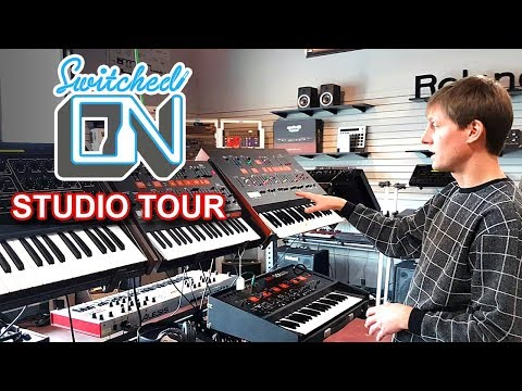 SWITCHED ON AUSTIN - Synth Studio, Office Tour & Synthesizer Reviews