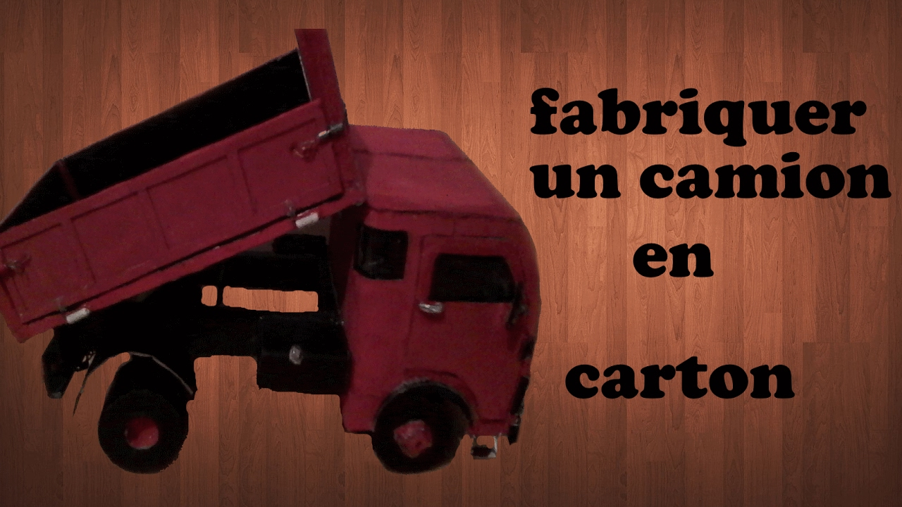 fabriquer un camion en carton om 40 youtube. Black Bedroom Furniture Sets. Home Design Ideas