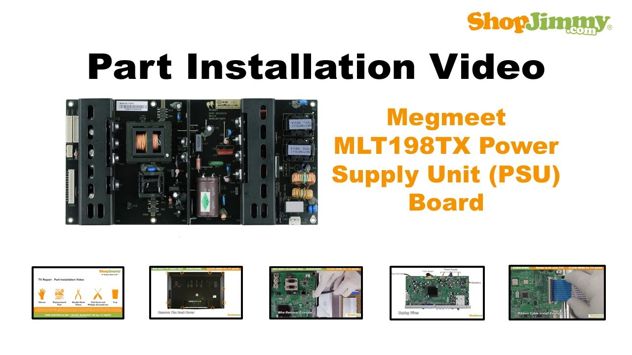 Megmeet Mlt198tx Power Supply Unit Psu Boards Replacement Guide Schematic Diagram Likewise Switching Wiring For Lcd Tv Repair Youtube