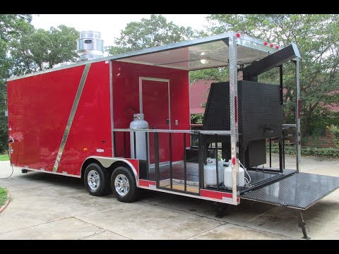 Brand New 2018 BBQ Porch Concession Trailer For Sale