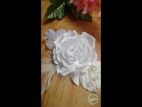 rosa de noiva engomada (parte 1)