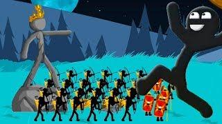 Stick War Legacy Атака стикменов! Последний день чтобы выжить! Стикмен зомби западают!