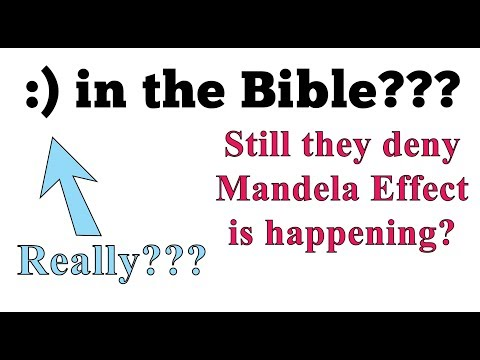 Mandela effect :) in the Bible - are you trapped in the church