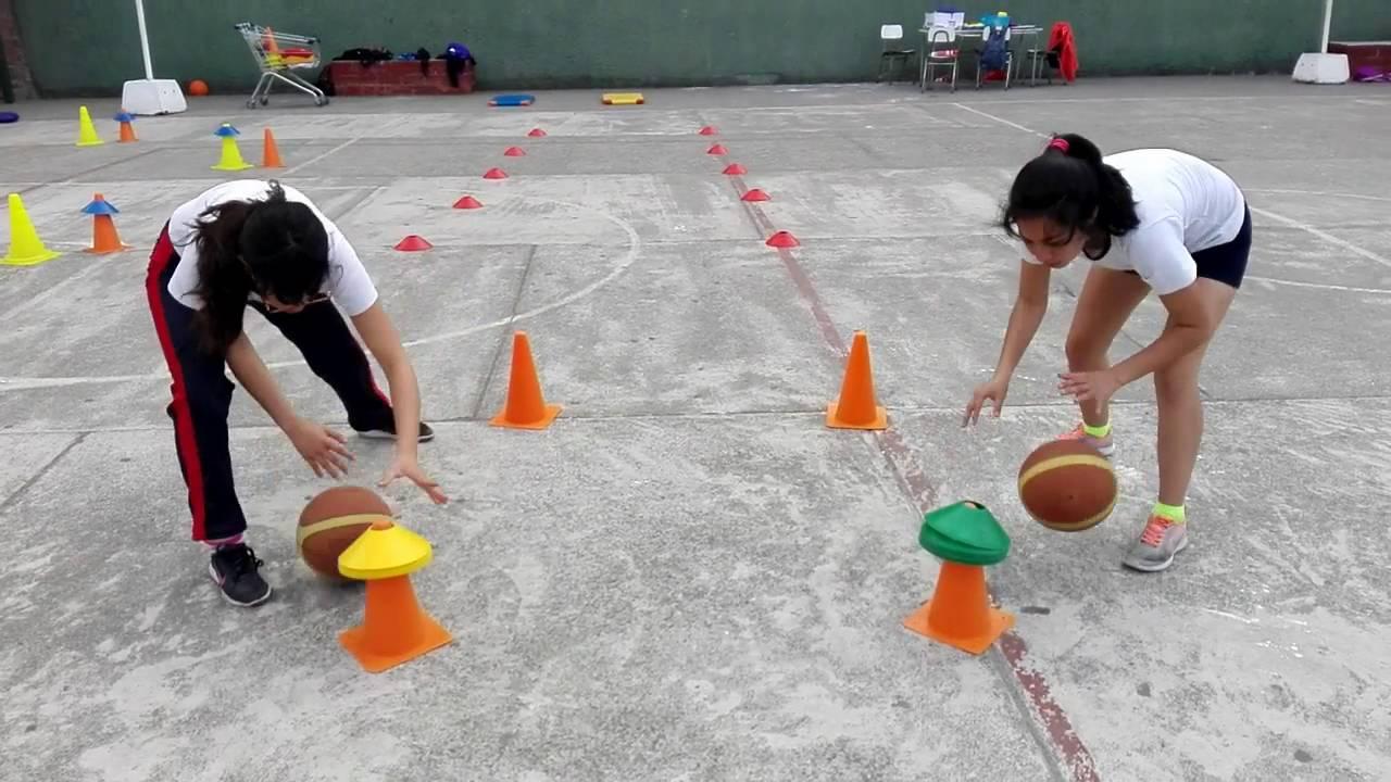 Circuito Motriz : Educación física circuito basquetbol youtube