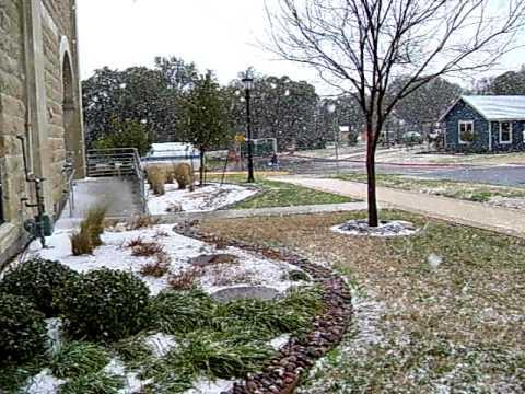 SNOW in Round Rock Texas 02/23/2010