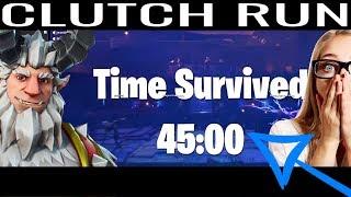 Fortnite - Frostnite Clutch 45 Minute Run to unlock Legendary Hero Sentry Gunner Krampus