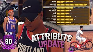 90 Overall - Pulling Up On A BIKE!  Attribute Update and 2nd MyPlayer? NBA 2K18