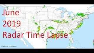 June 2019 US Weather Radar Time Lapse Animation