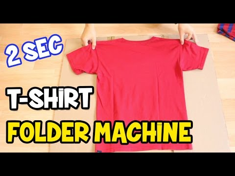 How to Fold a T-Shirt - How to make a T-Shirt folder board - 동영상