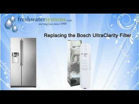 How To Replace The Bosch Ultraclarity 644845 Refrigerator Water Filter You