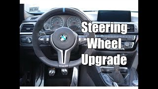 M Performance V2 Steering Wheel Install In A  Bmw M3 And M4 F80 F82 F83