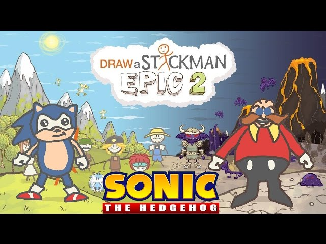 SONIC THE HEDGEHOG Draw a Stickman Epic 2 Gameplay - Sonic vs Doctor Eggman - Defeat Ink Boss
