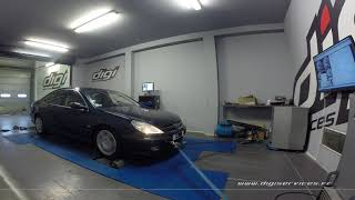 Peugeot 607 2.2 hdi 136cv AUTO Reprogrammation Moteur @ 159cv Digiservices Paris 77 Dyno