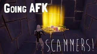 GOING AFK WHILE TRADING A SCAMMER IN FORTNITE SAVE THE WORLD PVE