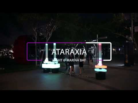 Ataraxia : SIDM Interaction Design installation at iLight Marina Bay