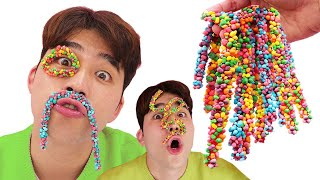 Rope Jelly candy 로프 젤리 캔디 Pinwheel Candy 알록달록 바람개비캔디 Color Mukbang ASMR | 말이야와아이들 MariAndKids