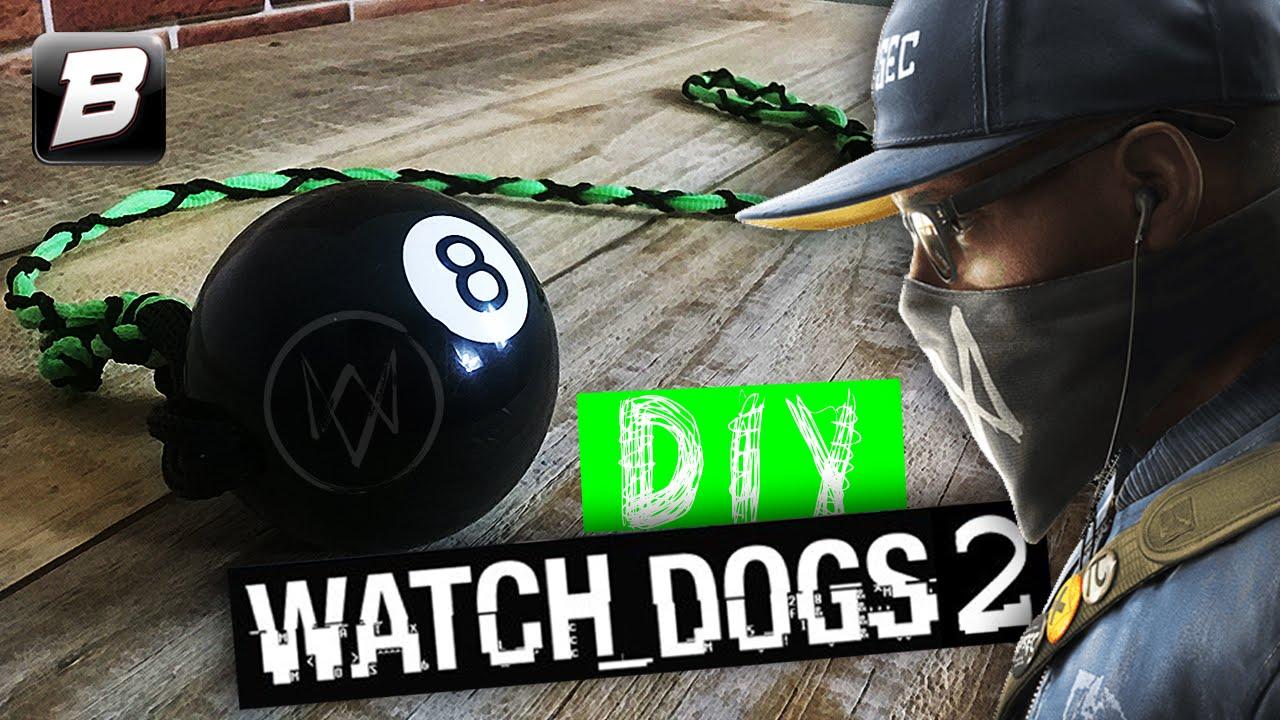 4e0b80afe301e DIY    Chaveiro Watch Dogs 2 com Bola de Bilhar - YouTube