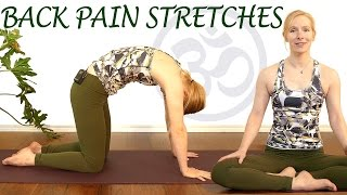 Easy Stretches for Back Pain Relief, Beginners Yoga Exercises for Relaxation & Stress