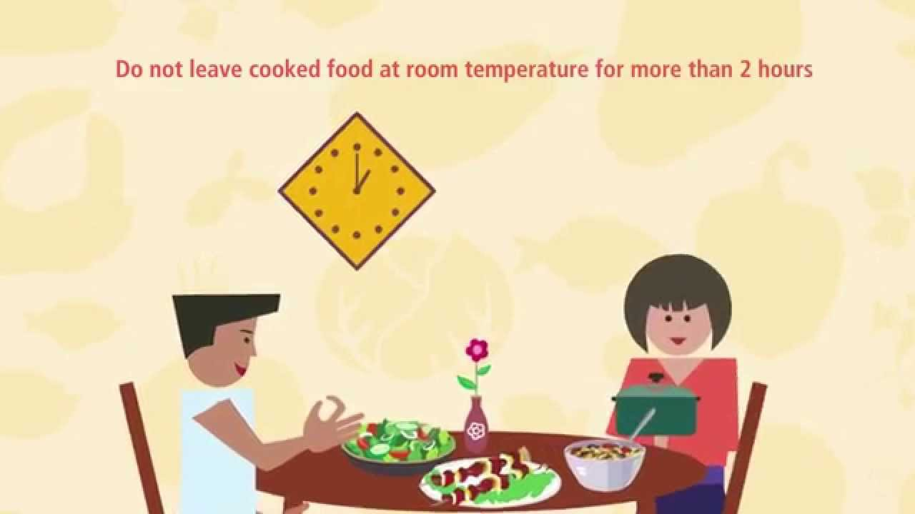 Don\'t leave cooked food at room temperature for more than 2 hours ...