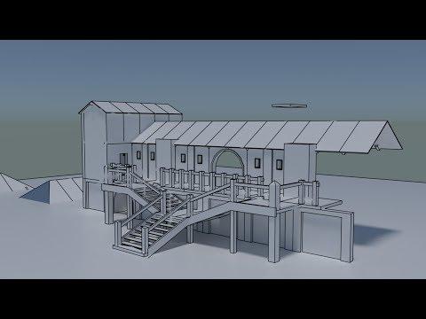 Castle Black Level Design. Part 2 [Blender3D ] [Unreal Engine 4]