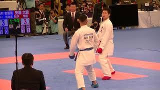 2018 全日本男子組手準決勝 安藤大騎 vs 飯村吏毅哉 Ando vs Iimura