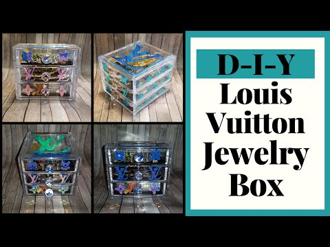 D-I-Y Holographic Louis Vuitton inspired jewelry box. Cricut X Illustrator