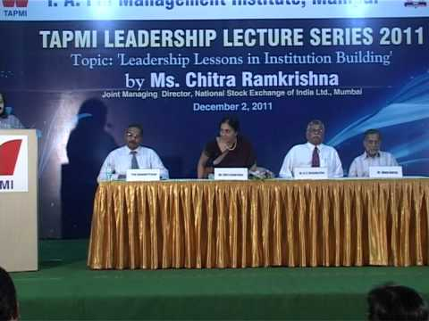Leadership Lecture by Ms. Chitra Ramkrishna - #4/4