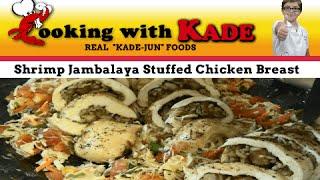Cooking With Kade & Chef Shane Rene | Shrimp Jambalaya Stuffed Chicken Breast & Cabbage Salad