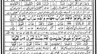 Tilawat-e-Quran Para 30 by Mishary Rashid with written urdu translation last Para of Quran