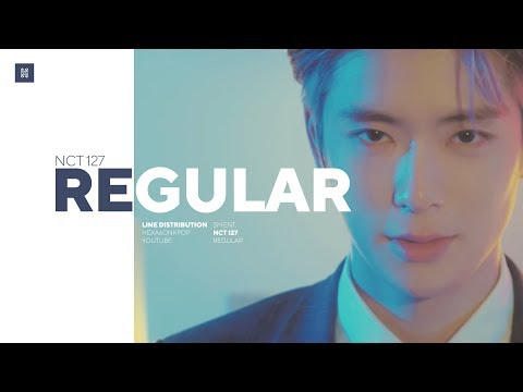 NCT 127 - Regular (English Ver.) Line Distribution (Color Coded)