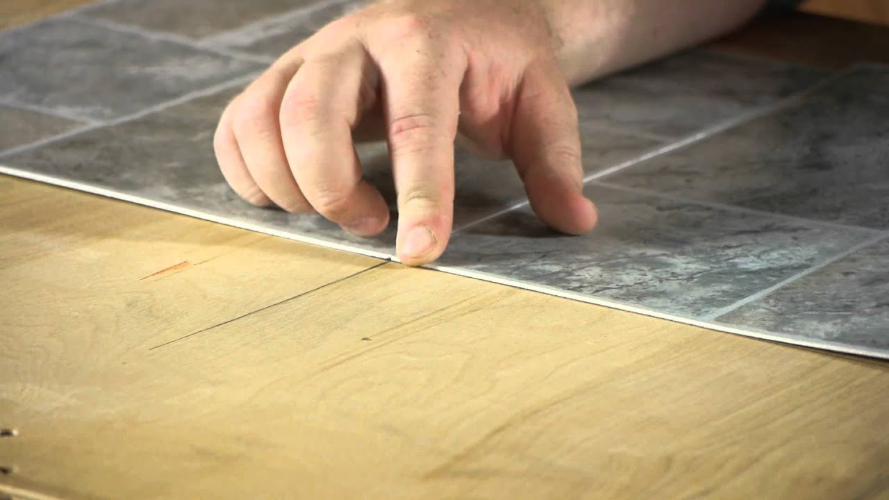 How To Install Linoleum Square Tiles Lets Talk Flooring Youtube