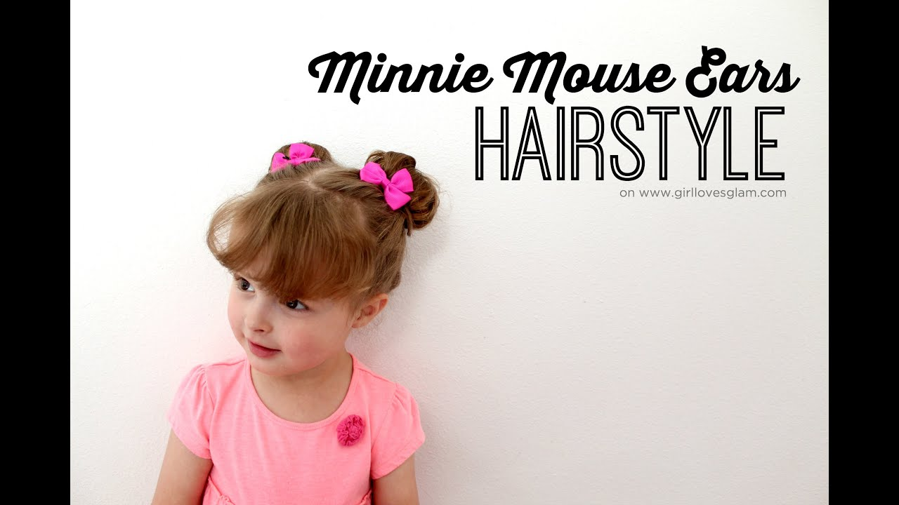 minnie mouse ears hairstyle - youtube