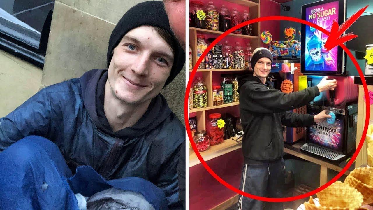Obdachloser bat Geschäftsmann um Geld - Aber der Mann bot ihm etwas besseres an