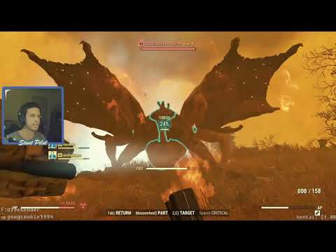 Fallout 76 – A Whole Server Takes On The Scorchbeast Queen