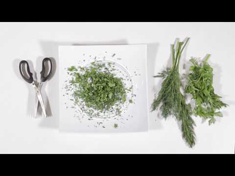 Ανοξείδωτο ψαλίδι για βότανα με 5 λεπίδες / Stainless steel 5 blade herb scissors with cleaning comb