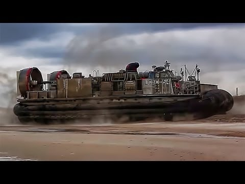 U.S. Navy Hovercraft In Action