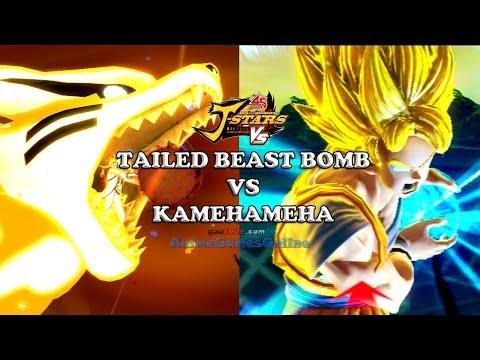Tailed Beast Bomb vs Kamehameha  - J-Stars Victory VS Jスターズ ビクトリーバーサス