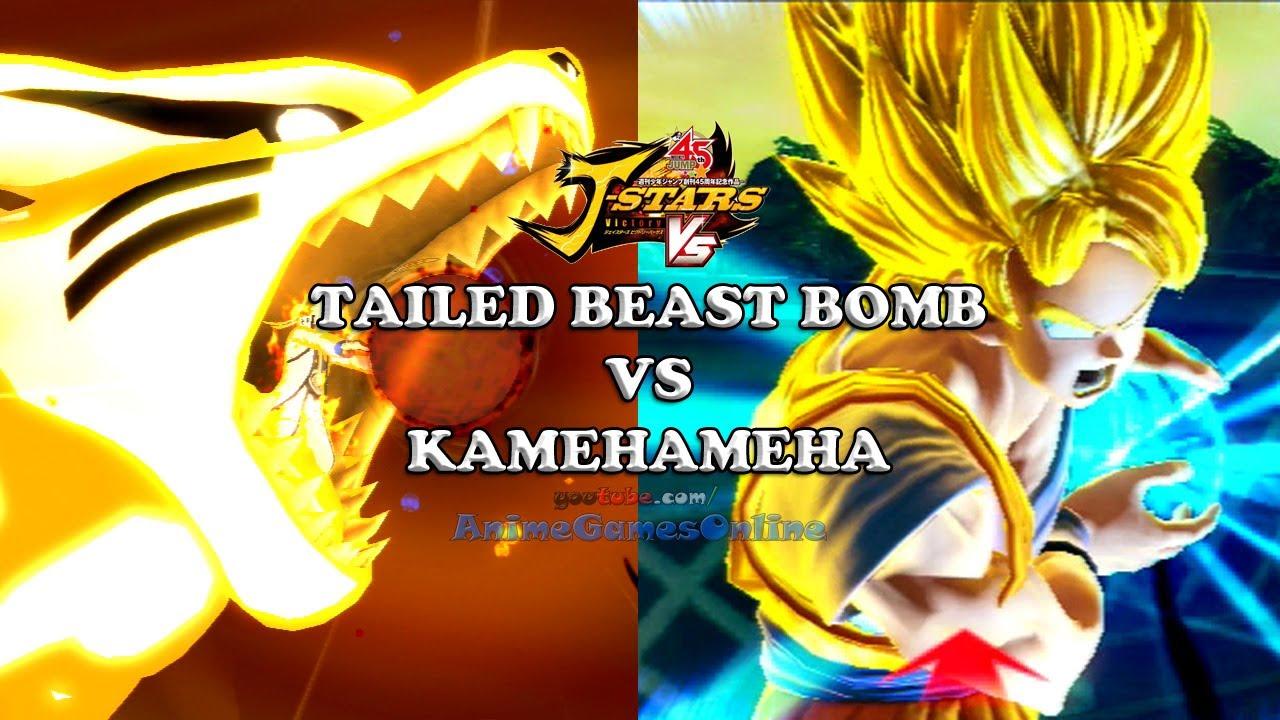 Tailed Beast Bomb vs Kamehameha - J-Stars Victory VS Jスターズ ...