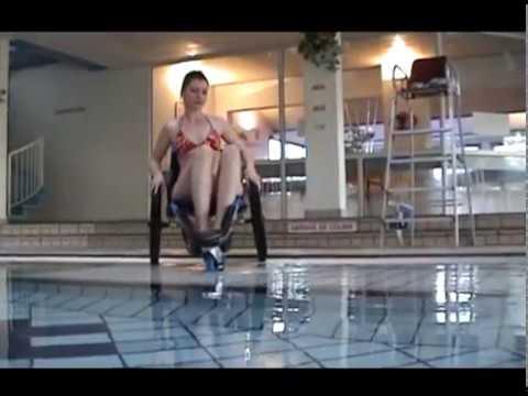 Pool wheelchair HIPPOCAMPE of VIPAMAT  YouTube