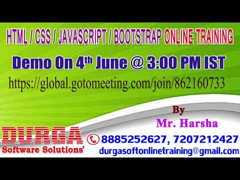 HTML/CSS/JAVASCRIPT/BOOTSTRAP Online Training