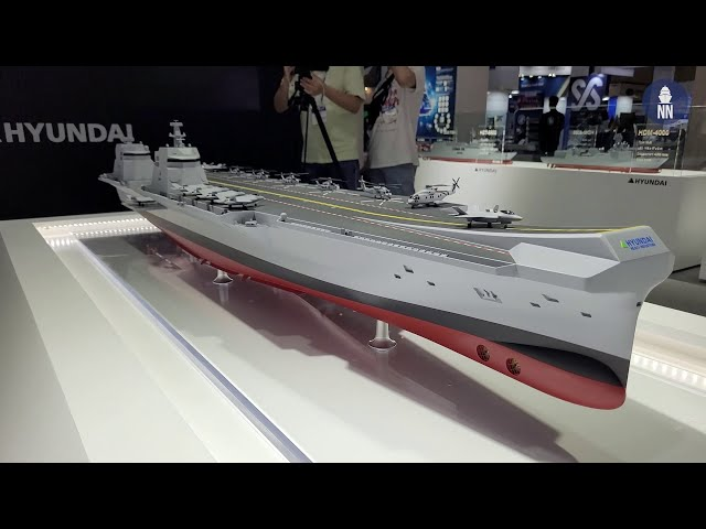 MADEX 2021 Day 1 - ROK Navy's CVX Light Aircraft Carrier with HHI and DSME